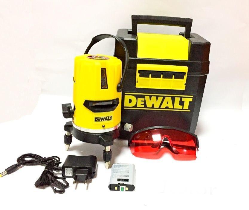 Лазерный уровень нивелир DEWALT DW077K 30 метров 5 линий 6 точек
