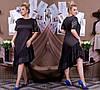 Женское ассиметричное платье атласное с отделкой из гипюра 50-52, 54-56, 58-60, фото 4