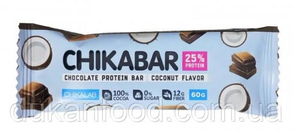 Протеиновый батончик Chikabar, Кокос с шоколадной начинкой, Chikalab