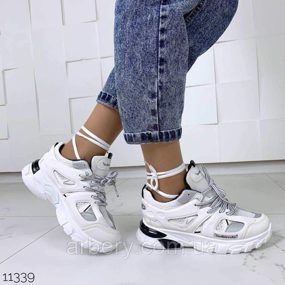 Шикарные модные кроссовки с двумя шнурками