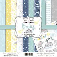Набор бумаги для скрапбукинга Фабрика декору My little baby boy, 30х30см, фото 1