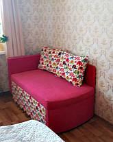 Диван дитячий Шпех 70см малюк розкладний (Слоники + рожевий). Диванчик зі спальним місцем 2 метри, фото 3