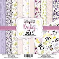 Набор бумаги для скрапбукинга Фабрика декору My little baby girl, 30х30см, фото 1