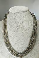 Ожерелье из натурального лабрадорита