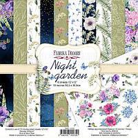 Набор бумаги для скрапбукинга Фабрика декору Night garden, 30х30см, фото 1