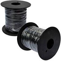 Упаковочная проволока в ПВХ изоляции, чёрная, на пластиковой катушке - 250м