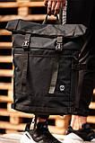 Городской рюкзак Rolltop BEZET Black' 19, черный рюкзак ролтоп, городской ролтоп, фото 2