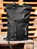 Городской рюкзак Rolltop BEZET Black' 19, черный рюкзак ролтоп, городской ролтоп, фото 4