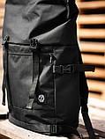 Городской рюкзак Rolltop BEZET Black' 19, черный рюкзак ролтоп, городской ролтоп, фото 3