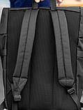 Городской рюкзак Rolltop BEZET Black' 19, черный рюкзак ролтоп, городской ролтоп, фото 5