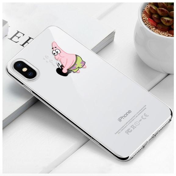 """Чехол TPU прозрачный, мягкий с изображением """"Патрик - Patrick Star"""" iPhone 7/8"""