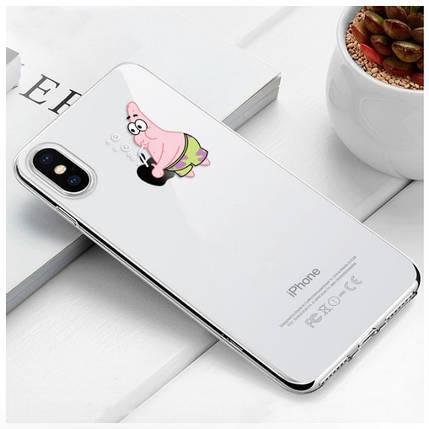 "Чехол TPU прозрачный, мягкий с изображением ""Патрик - Patrick Star"" iPhone 6 Plus/6S Plus, фото 2"