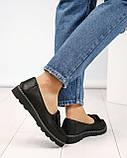 Стильные черные туфли женские с бантом, фото 7