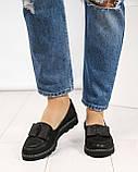 Стильные черные туфли женские с бантом, фото 2