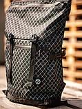 Городской рюкзак Rolltop BEZET Grid' 19, рюкзак ролтоп с принтом, фото 3