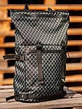 Городской рюкзак Rolltop BEZET Grid' 19, рюкзак ролтоп с принтом, фото 4