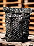 Городской рюкзак Rolltop BEZET Grid' 19, рюкзак ролтоп с принтом, фото 5