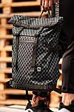 Городской рюкзак Rolltop BEZET Grid' 19, рюкзак ролтоп с принтом, фото 2
