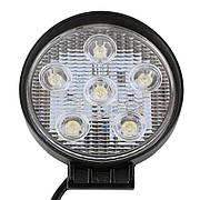 Фара дополнительная LED 18W (6x3W Epistar) круглая, 1300lm, 9-32V (Flood) 950-990310007