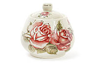 Сахарница фарфоровая 300мл Корейская роза BonaDi XX847