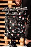 Городской рюкзак Rolltop BEZET Skull' 19, рюкзак ролтоп с принтом, фото 2