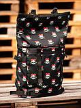 Городской рюкзак Rolltop BEZET Skull' 19, рюкзак ролтоп с принтом, фото 3