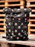 Городской рюкзак Rolltop BEZET Skull' 19, рюкзак ролтоп с принтом, фото 4
