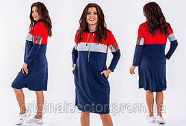 Спортивное женское платье-батник
