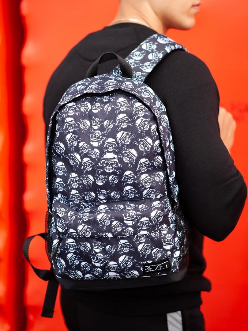 Городской рюкзак BEZET Dead racer' 19, рюкзак с принтом черепа