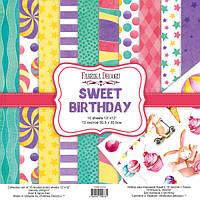 Набор бумаги для скрапбукинга Фабрика декору Sweet Birthday, 30х30см, фото 1