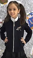 Бомбер-кофта для девочки с брошкой в стразах  черн011, фото 1