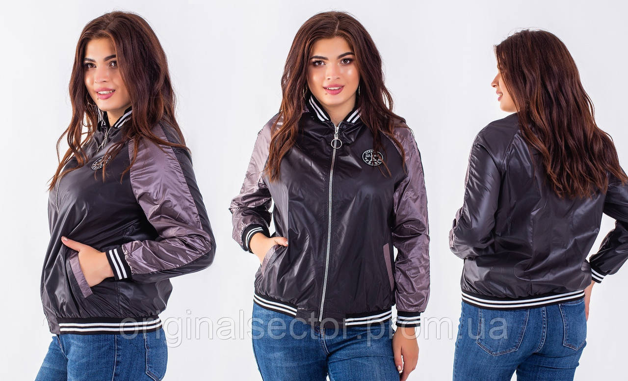 Женская тонкая куртка-бомбер