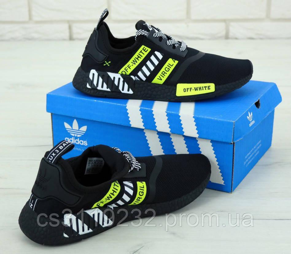 Мужские кроссовки Adidas NMD Off-White (черные)