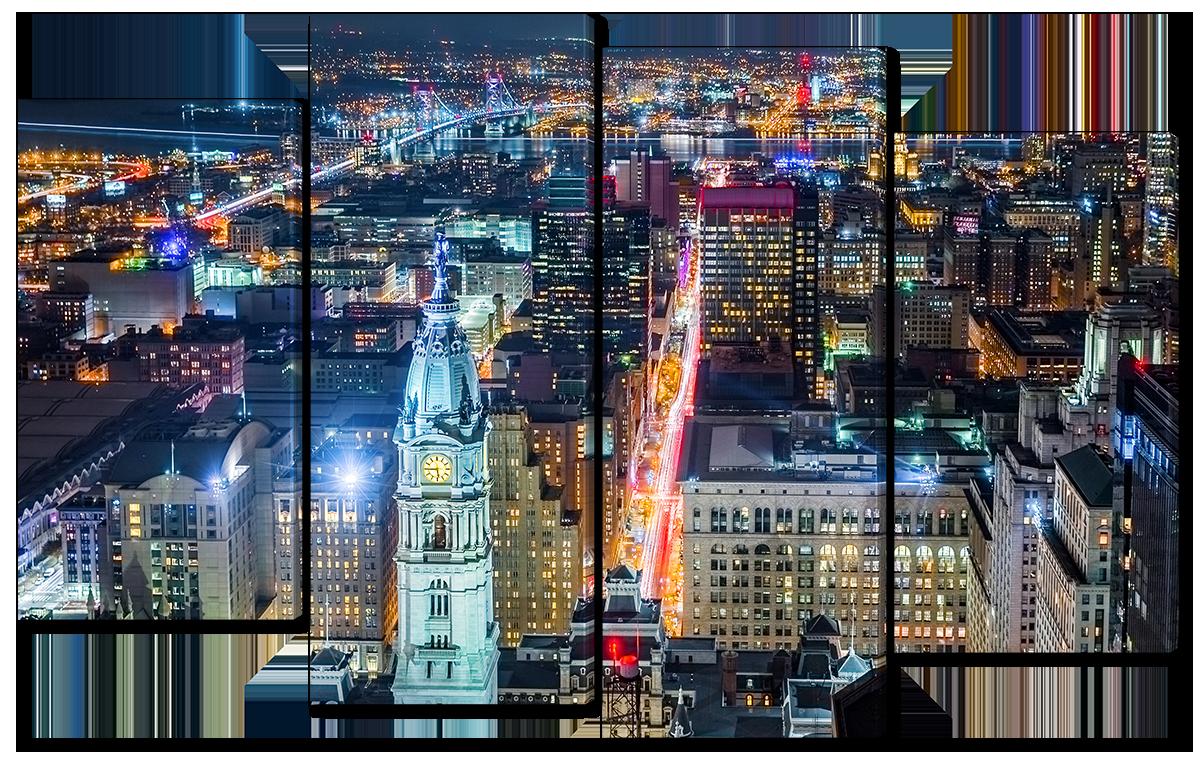 Модульная картина Interno Эко кожа  Филадельфия 94x56см (A1104S)
