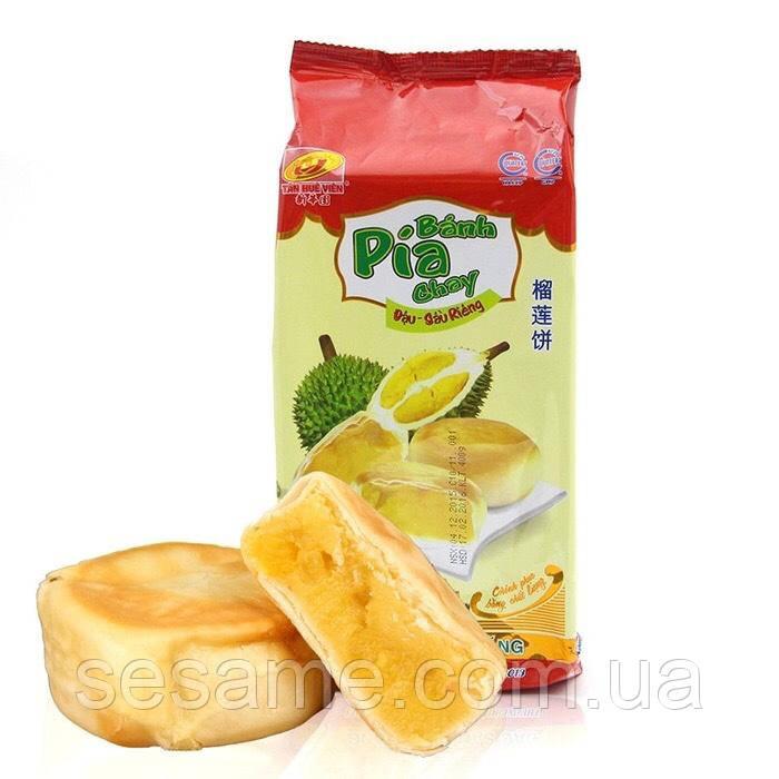 Печенье с Дурианом Banh Pia Chay 300 грамм (Вьетнам)