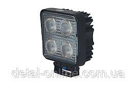 Фара дополнительная LED 20W (4x5W CREE) квадратная, 2800lm, 9-32V (Flood) 950-990310008