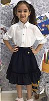 Юбка школьная для девочки на резинке  черн016