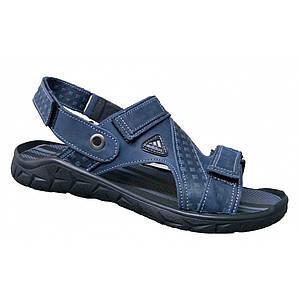 Спортивные сандалии  мужские кожаные летние 39-46 синий