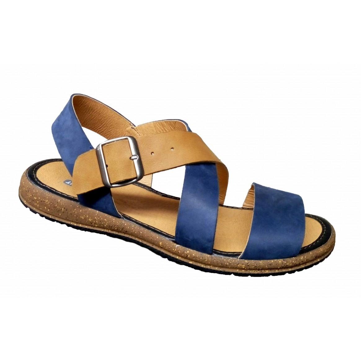 Сандалии мужские кожаные летние 39-46  синий