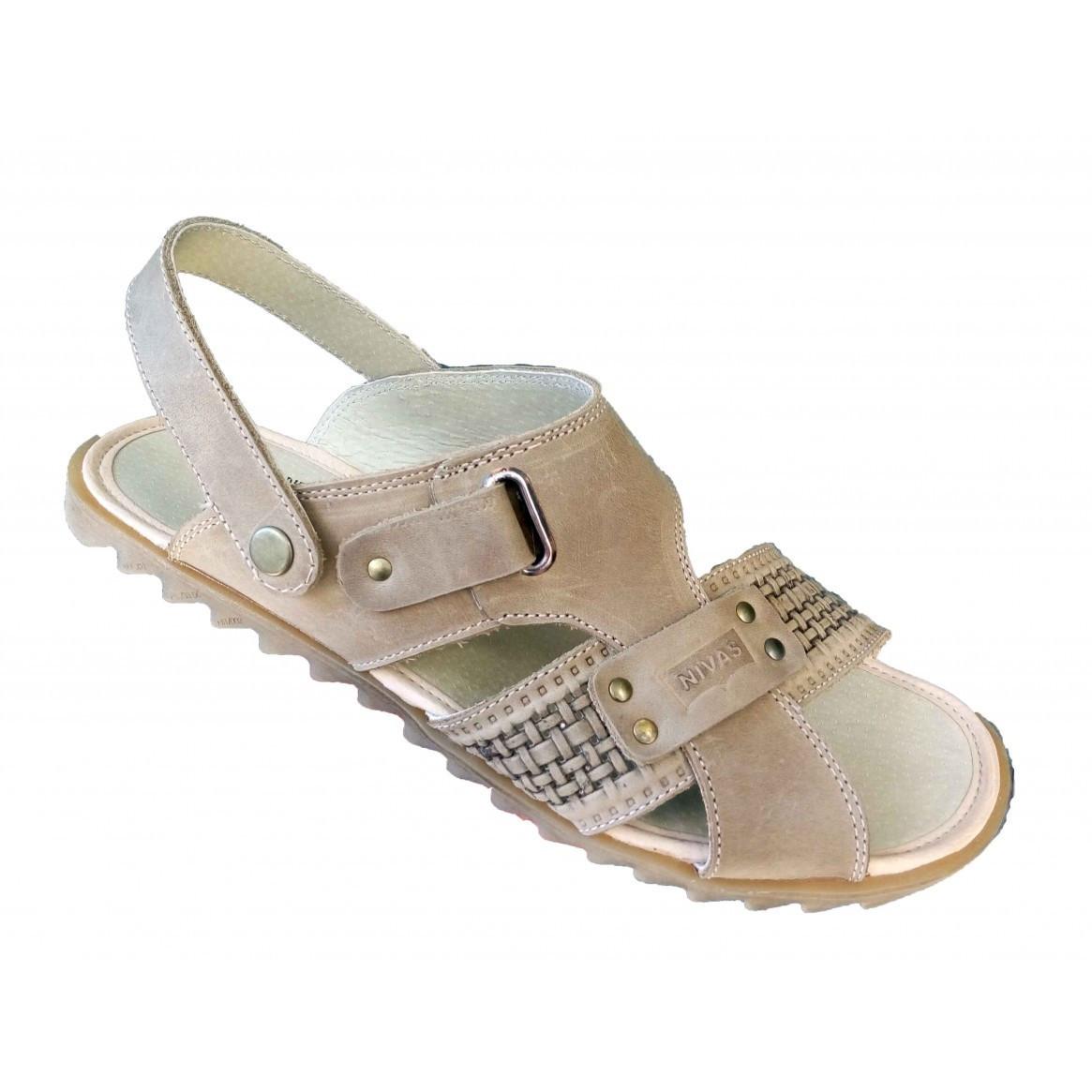 Мужские сандали кожаные летние 39-46 оливка