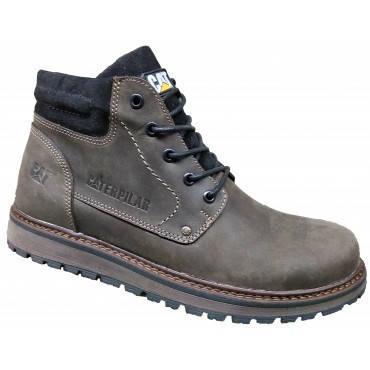Зимние мужские ботинки на меху  40-45 коричневый крейзи