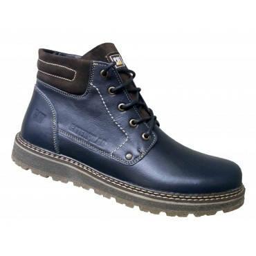 Зимние мужские ботинки кожа  на меху 39-46 синий тайфун