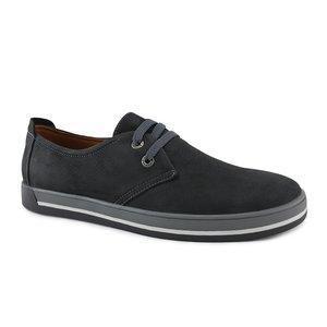 Замшевые мужские туфли  модные  40-45 черный