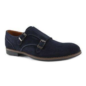 Замшевые мужские туфли  классические  40-45 черный