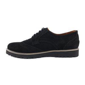 Модные  замшевые мужские туфли  40-45 черный