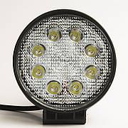 Фара дополнительная LED 24W (8x3W Epistar) круглая, 1800lm, 9-32V (Flood) 950-990310012