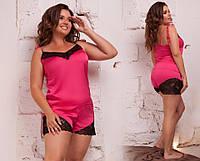 Пижама женская Шелковый комплект для сна Размер 48 50 52 54 56 58 60 62 В наличии 6 цветов