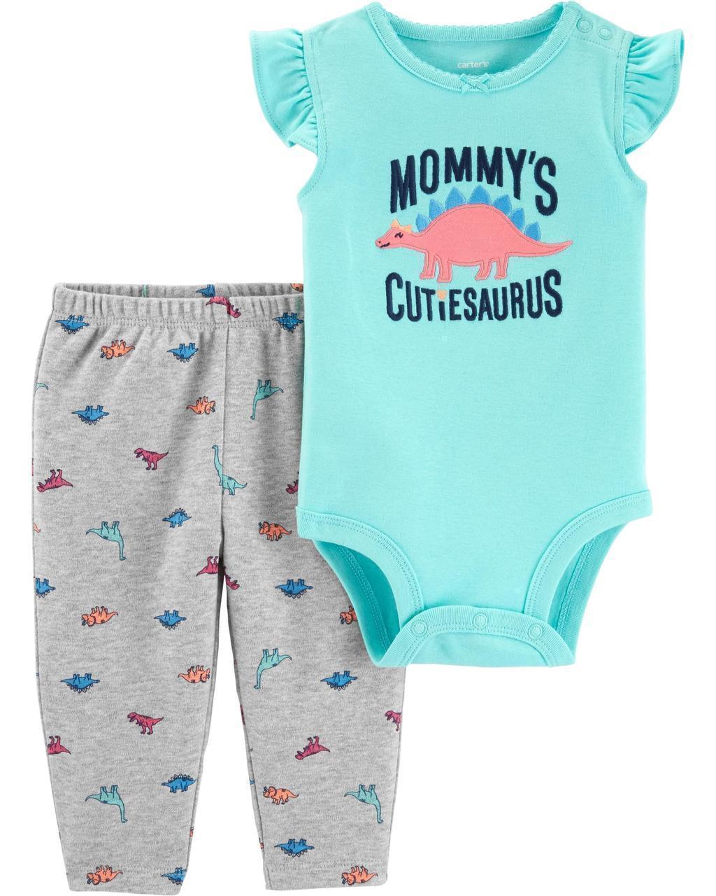 Боди + Штаны Carters для новорожденной девочки 46-55 см. Костюм двойка