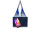 Органайзер для гаджетов - Атласная сумка -  авоська - мини - Ультрамарин, фото 2