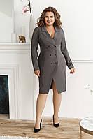 Платье-пиджак, №134, графит